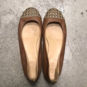 JCrew ballet flats - studded toe and leather
